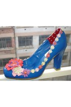 blue city flowers BOBU heels