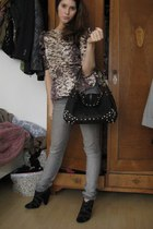 Isabel Marant blouse - Zara boots - H&M jeans - Jimmy Choo for h&m purse