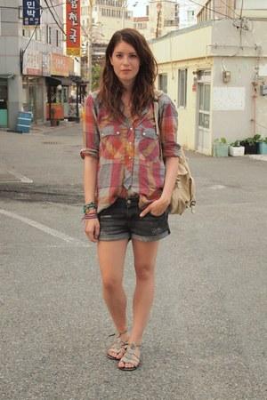 Isabel Marant blouse - Topshop bag - H&M shorts