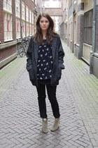Isabel Marant boots - Mango coat - Isabel Marant blouse