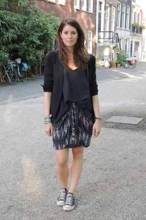 Mango blazer - vintage blouse - Isabel Marant skirt