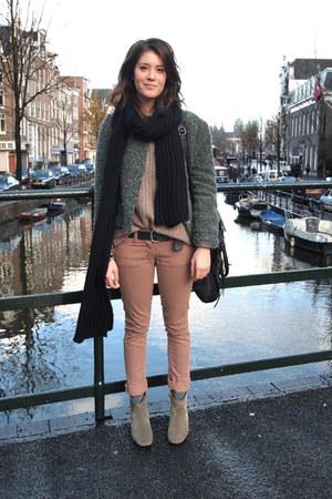 Isabel Marant jeans - Isabel Marant boots - vintage jacket