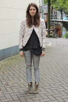 Isabel Marant boots - Isabel Marant jacket - brandy melville blouse