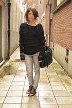 H&M jeans - vanessa bruno athe jumper - Antik Batik sandals