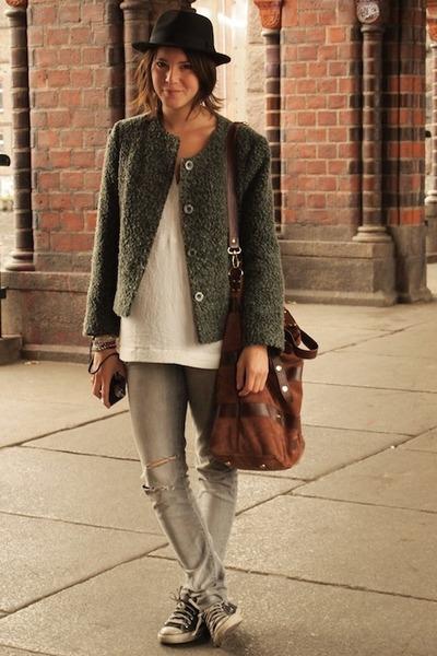 H&M jeans - River Island hat - vintage jacket - Mango bag