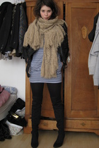 American Apparel dress - Zara boots - Zara jacket - H&M scarf