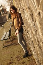 Zara boots - H&M jeans - asos jacket