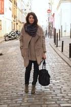 Isabel Marant boots - H&M coat - Mango scarf - Alexander Wang bag