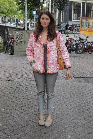 Isabel Marant jacket - H&M jeans - H&M Trend bag