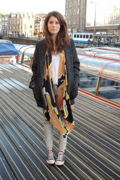 Mango coat - H&amp;M jeans - Winter Kate cardigan