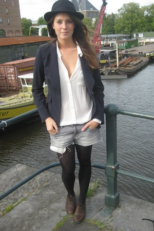 Mango blazer - Zara shoes - H&M shorts - H&M Trend blouse