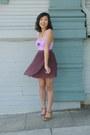 Periwinkle-charlotte-russe-top-brown-nine-west-heels