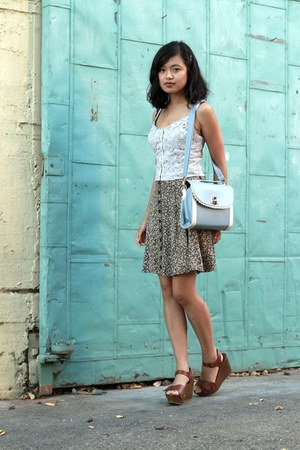 lace Charlotte Russe top - baby blue sammydress bag