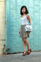 lace Charlotte Russe top - baby blue sammydress bag