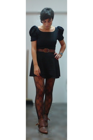 asos dress - H&M belt - Topshop tights - Topshop shoes