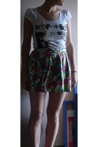 Topshop skirt - H&M t-shirt