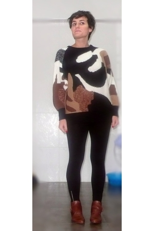 sweater - H&M leggings - Topshop boots