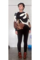 sweater - H&M leggings - Topshop boots