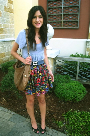 forever 21 skirt - Nordstrom purse - Target shoes - forever 21 necklace