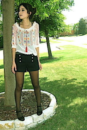 BCBG shirt - f21 shorts - Michael Kors shoes - UO tank top