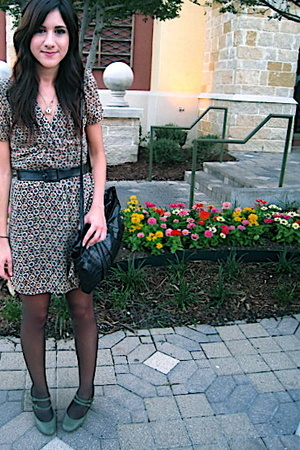 f21 dress - vintage purse - vintage belt - payless shoes
