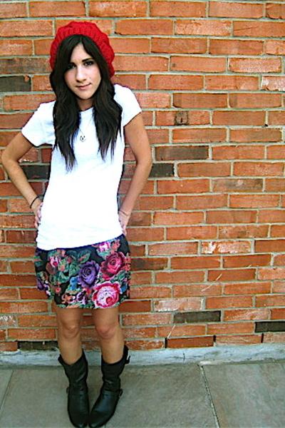 UO hat - Delias skirt - f21 shirt