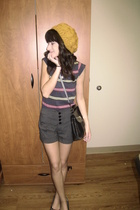 f21 hat - f21 shirt - Nordstrom shoes - vintage