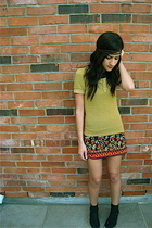 forever 21 dress - chinese laundry shoes - yellow shirt - accessories