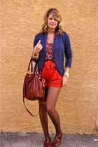 Forever 21 top - Steve Madden shoes - J Crew bag - Sparkle and Fade shorts