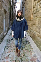 BLANCO boots - pull&bear jeans - Zara scarf - pull&bear jumper - Design and prod