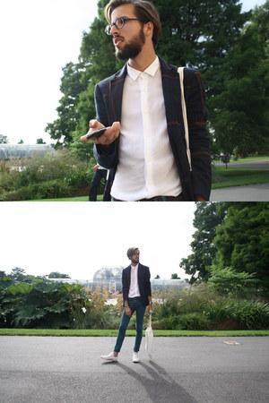 Zara blazer - Topman jeans - Zara shirt - Converse sneakers