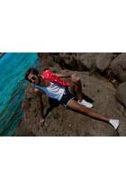 H&M t-shirt - Calcedonia swimwear - nike sneakers