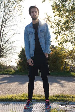 pull&bear jacket - Zara pants - nike sneakers