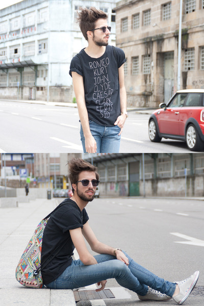 pull&bear t-shirt - H&M jeans - H&M bag - Converse sneakers