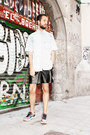 Topman shirt - American Apparel shorts - nike sneakers