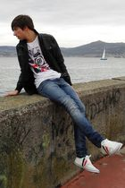 Bershka jacket - Pull and Bear t-shirt - Pull and Bear jeans - Pull and Bear sho