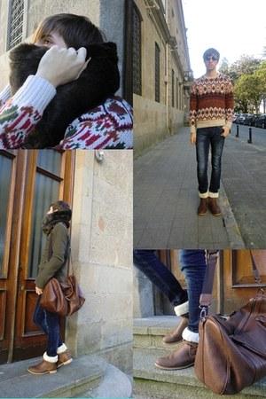 BLANCO boots - pull&bear coat - pull&bear jeans - Zara scarf - Zara bag - Zara j