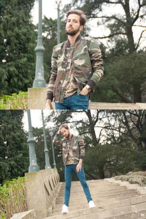 suiteblanco jacket - Topman jeans - suiteblanco t-shirt - nike sneakers