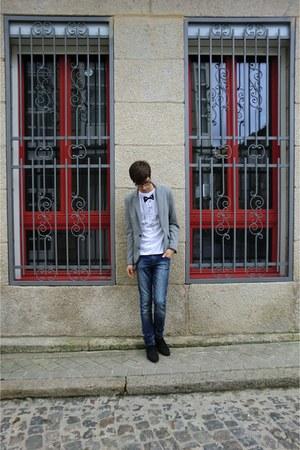 Zara blazer - BLANCO t-shirt - pull&bear jeans - Zara shoes