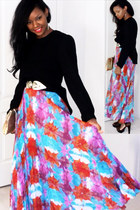 skirt - bag - vintage belt - vintage blouse - Michael Kors pumps