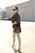 periwinkle holographic Zara sandals - heather gray denim Gap jeans