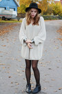 Black-cut-off-boots-homemade-shoes-black-gina-tricot-hat