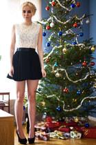 black lace romwe dress