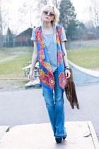 blue romwe vest