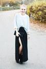 Black-scorett-boots-silver-glittery-gina-tricot-sweater-white-cubus-shirt