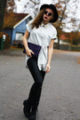 Black-scorett-boots-black-gina-tricot-hat-off-white-diy-weekday-shirt