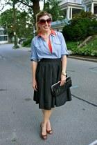 black St John skirt - salmon Urban Outfitters dress - sky blue Forever 21 shirt