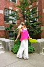 Lime-green-asos-bag-white-alexander-mcqueen-pants-hot-pink-forever-21-top
