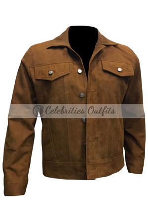 suede Celebrities Outfits jacket