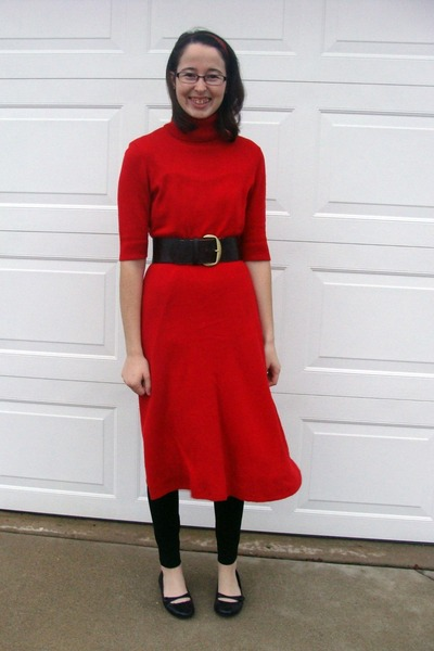 lauren ralph lauren dress - Old Navy leggings - payless shoes - Maurices belt